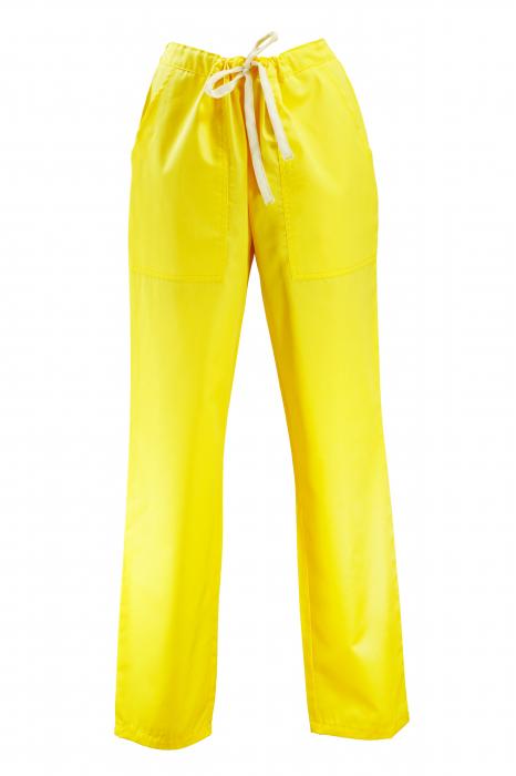 Pantalon cu Buzunare - Galben 2XL 0
