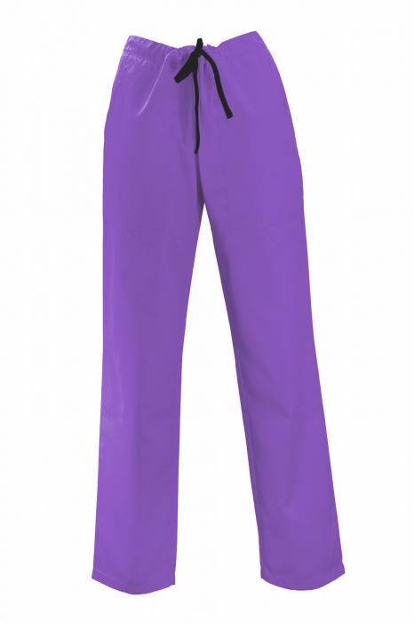Pantalon cu Buzunare - Mov Închis 2XL 0