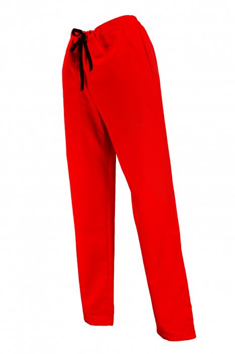 Pantalon cu Buzunare - Roșu 2XL 1