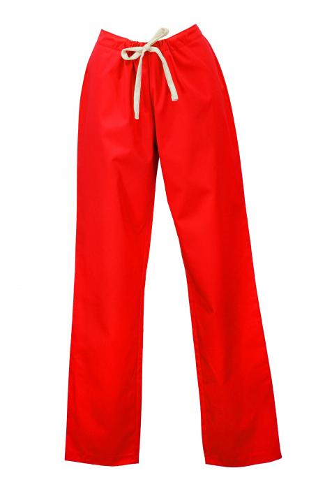 Pantalon fără Buzunare - Roșu 36 [0]
