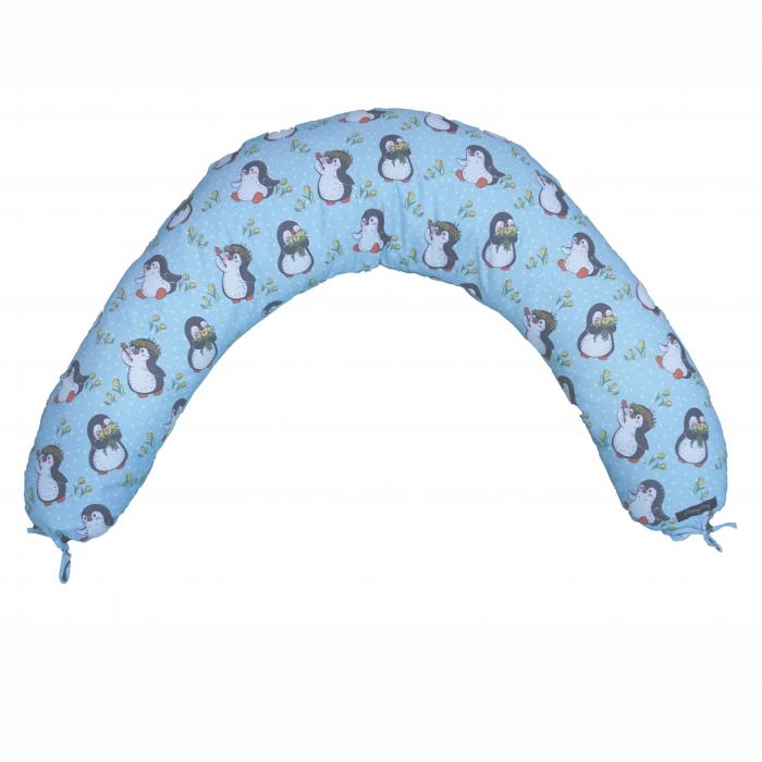Pernă de alăptare - pinguini bleu [0]