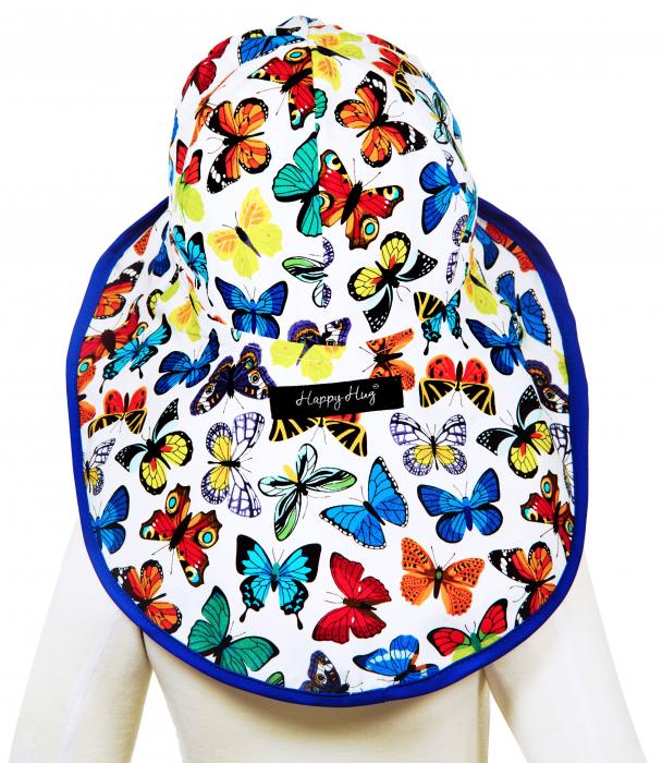 Pălărie de Soare - Fluturi Colorați 4