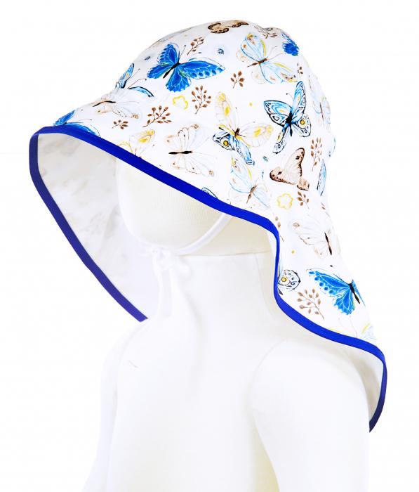 Pălărie de Soare - Fluturi Crem & Albaștri [0]