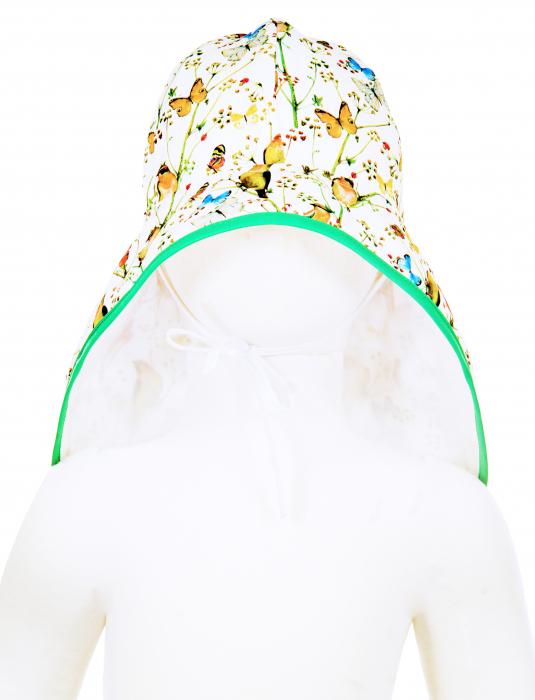 Pălărie de Soare - Păsări & Fluturi (alb) 2