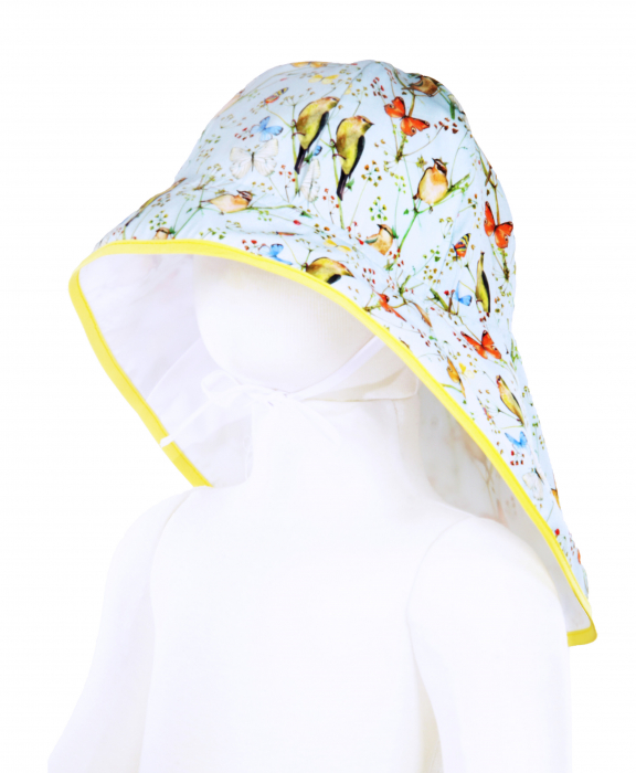 Pălărie de Soare - Păsări & Fluturi (bleu) 0