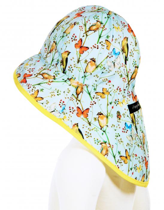 Pălărie de Soare - Păsări & Fluturi (bleu) 1