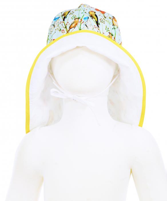 Pălărie de Soare - Păsări & Fluturi (bleu) 3