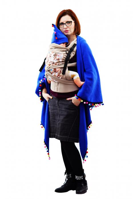 Poncho Albastru/Multicolor 3