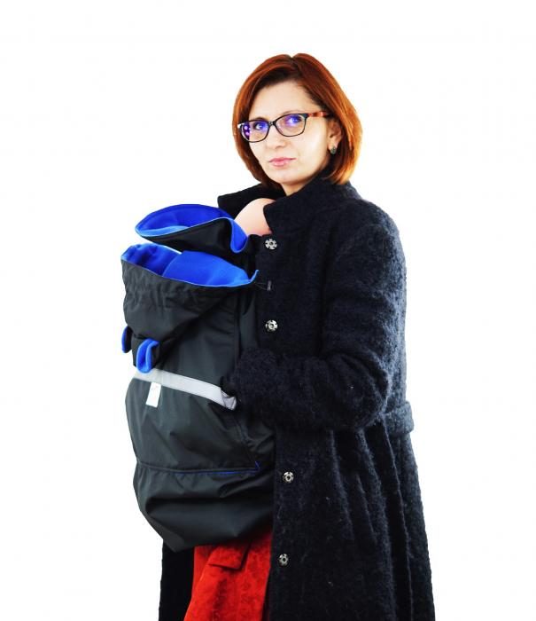 Protecție Iarnă Glugă cu Urechi Negru/Albastru 8
