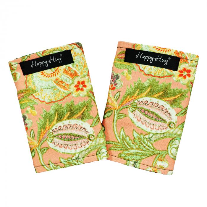 Protecții Bretele - Flori Corai - Verde 0