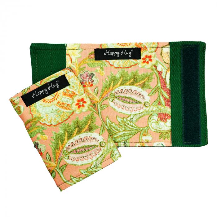 Protecții Bretele - Flori Corai - Verde 1