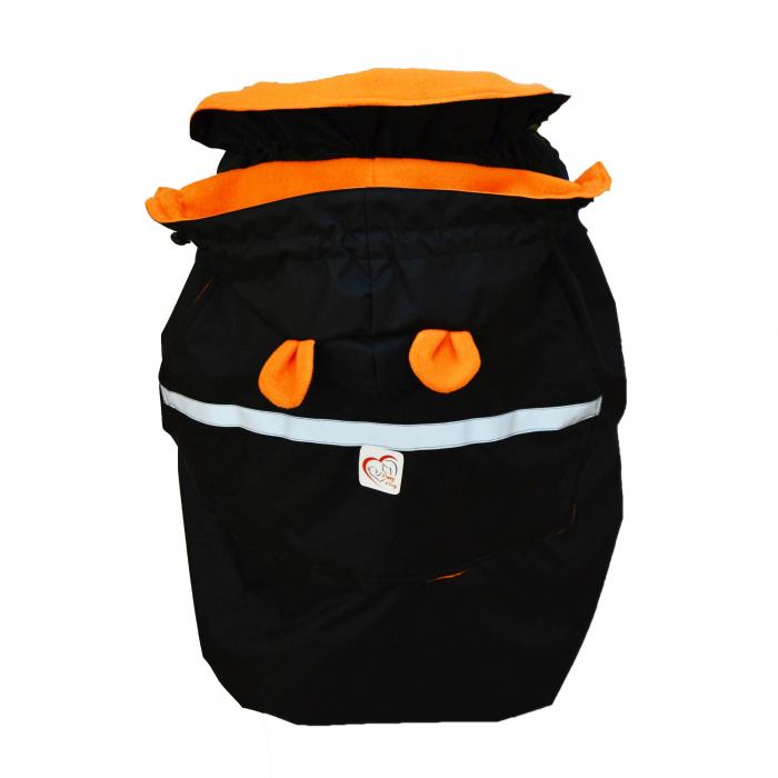Protecție Iarnă Glugă cu Urechi Negru/Orange [0]