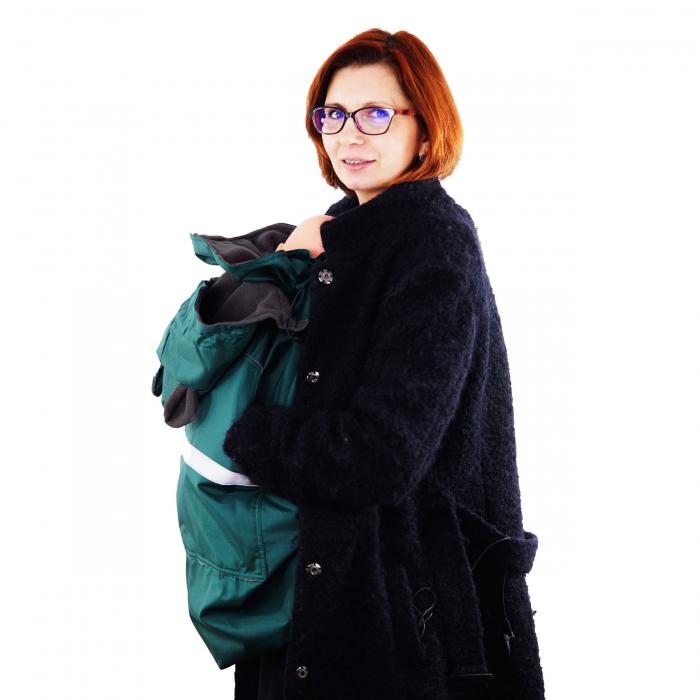 Protecție Iarnă cu Urechi - Dark Verde/Negru 3