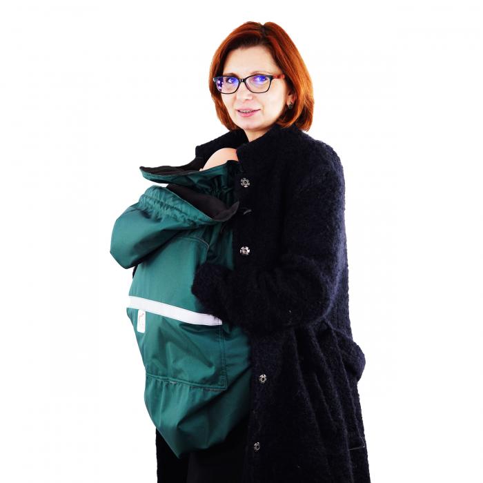 Protecție Iarnă fără Urechi - Dark Verde/Negru 4