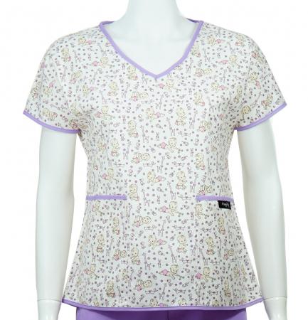 Bluză compleu - Bebelusi (mov)0