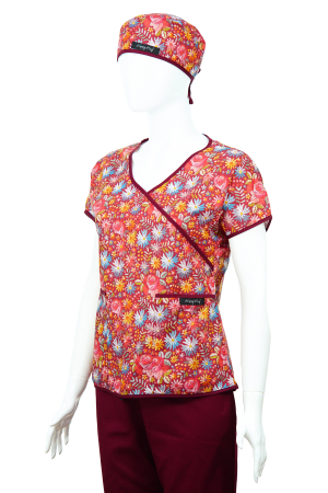 Bluză Compleu - Designer Print - Bordeaux Flowers 46 [2]