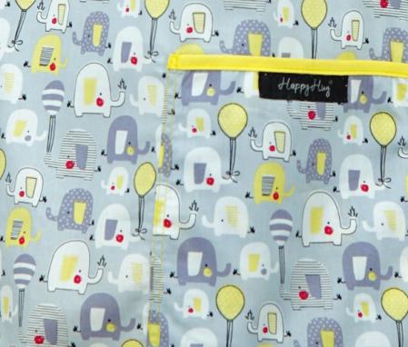 Bluză Compleu - Designer Print - Elefănței Gri 363