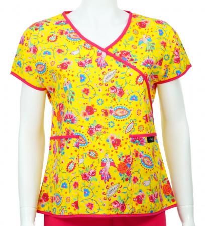 Bluză Compleu - Designer Print - Happiness Yellow0