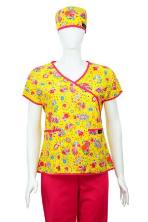 Bluză Compleu - Designer Print - Happiness Yellow1