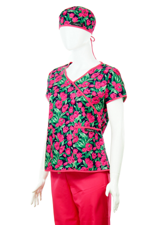 Bluză Compleu - Designer Print - Pink Flowers2