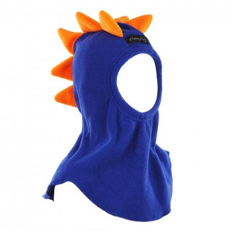 Cagulă Dino cu solzi portocalii Albastru1