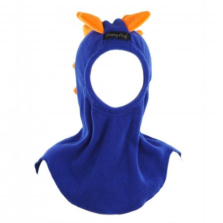 Cagulă Dino cu solzi portocalii Albastru2