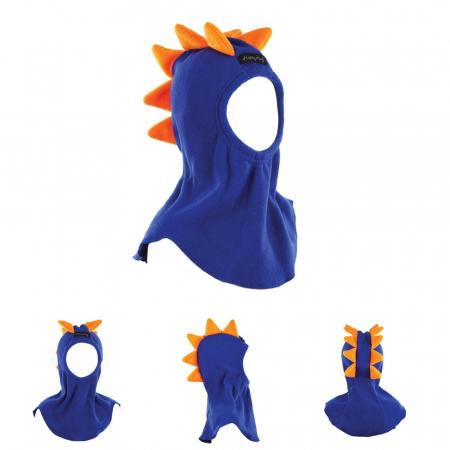 Cagulă Dino cu solzi portocalii Albastru0