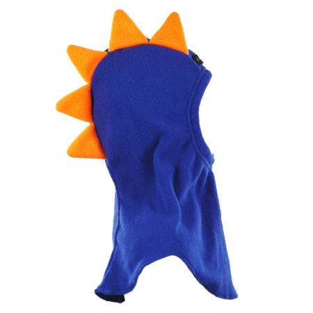Cagulă Dino cu solzi portocalii Albastru3