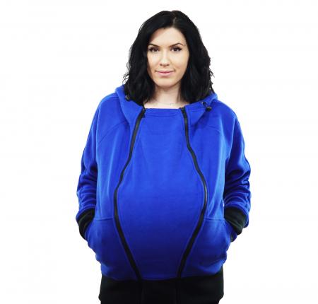 Hanorac 3 în1 Babywearing - Albastru L [4]