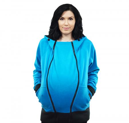 Hanorac 3 în1 Babywearing - Bleu L [3]
