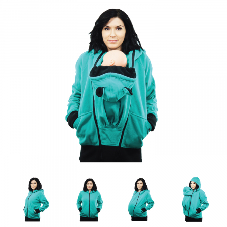 Hanorac 3 în1 Babywearing - Verde Menta L [0]