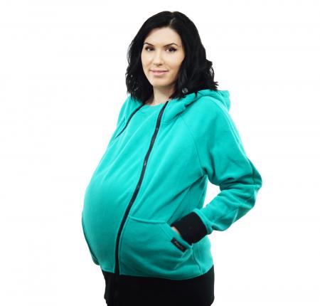 Hanorac Babywearing 3 in 1 - Verde Menta3