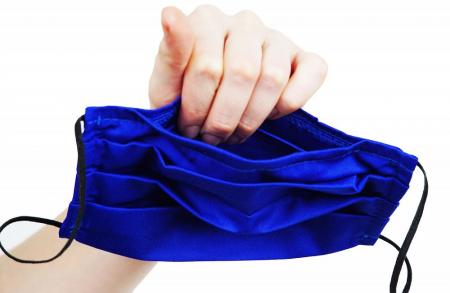 Mască Textilă cu Pliuri - Bujori pe fond negru2