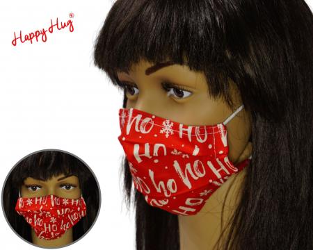 Mască Textilă cu Pliuri - Ho Ho Ho0