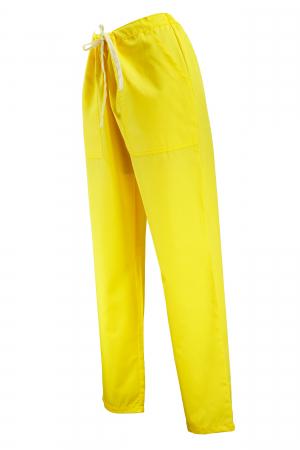 Pantalon cu Buzunare - Galben 2XL1