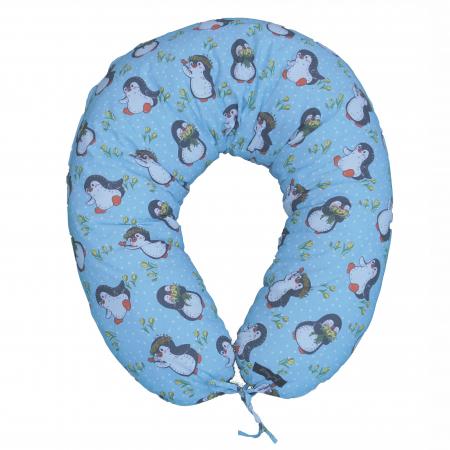 Pernă de alăptare - pinguini bleu [2]