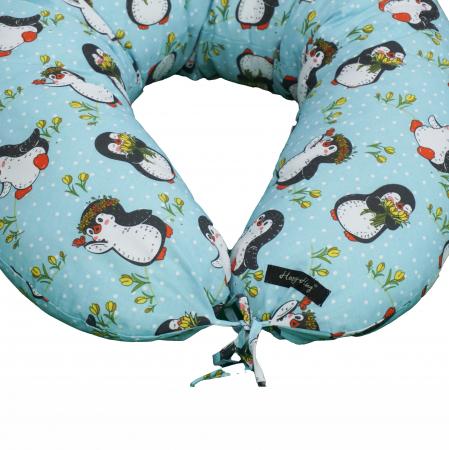 Pernă de alăptare - pinguini bleu [4]