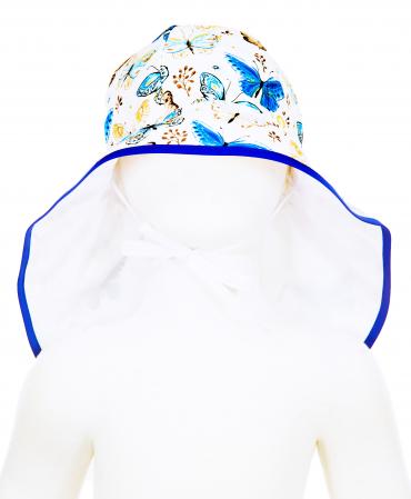 Pălărie de Soare - Fluturi Crem & Albaștri [2]