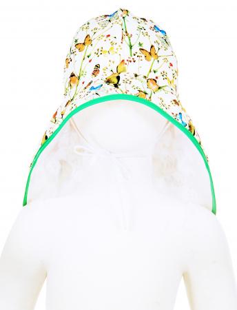 Pălărie de Soare - Păsări & Fluturi (alb)2