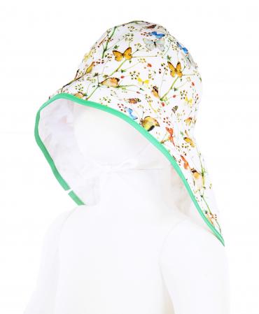 Pălărie de Soare - Păsări & Fluturi (alb)0
