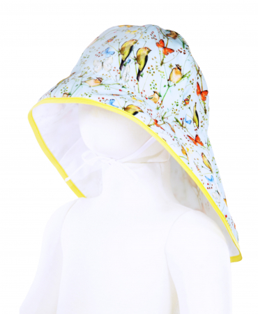 Pălărie de Soare - Păsări & Fluturi (bleu)0