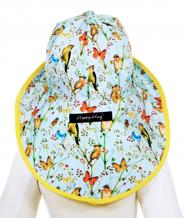 Pălărie de Soare - Păsări & Fluturi (bleu)4