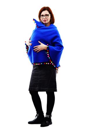 Poncho Albastru/Multicolor0