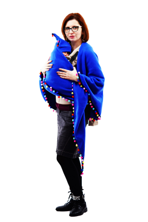 Poncho Albastru/Multicolor4