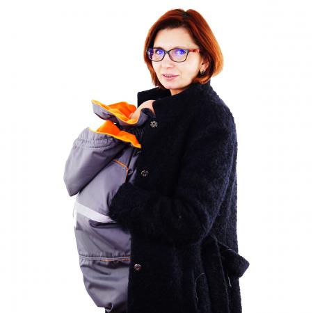 Protecție Iarnă fără Urechi - Gri/Orange  [10]