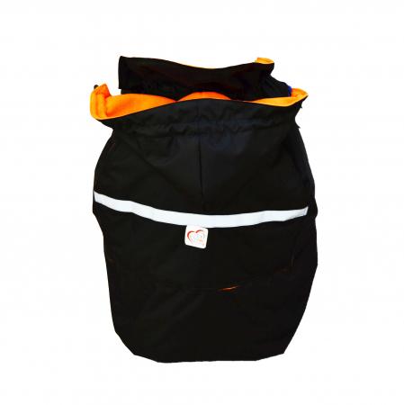 Protecție Iarnă Fără Urechi Negru/Orange1