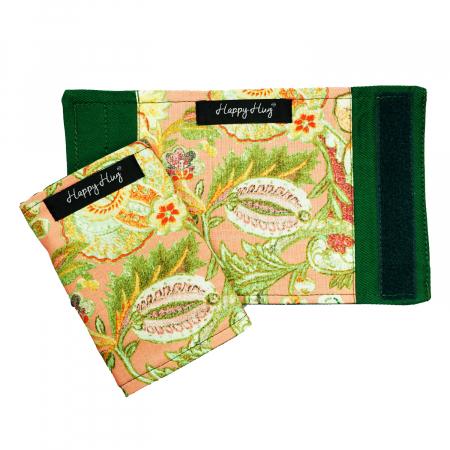 Protecții Bretele - Flori Corai - Verde1