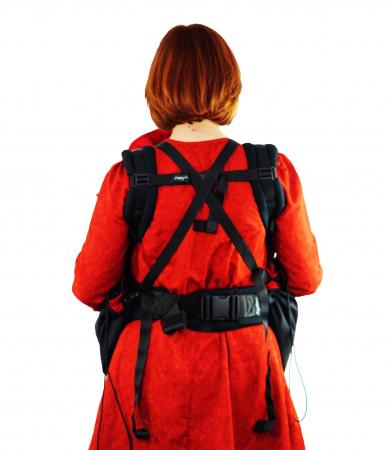 Protecție Iarnă Fără Urechi Negru/Red3