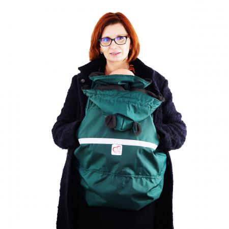 Protecție Iarnă cu Urechi - Dark Verde/Negru2