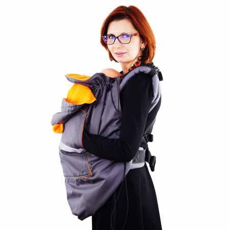 Protecție Iarnă cu Urechi - Gri/Orange2